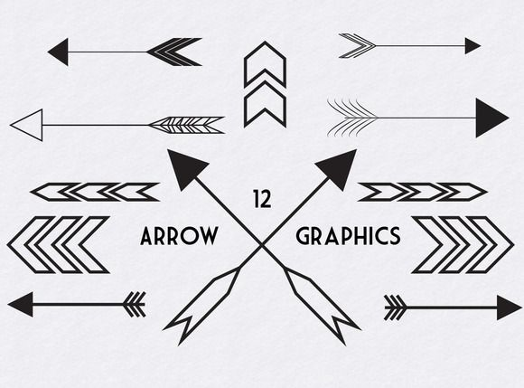 12 Individual High Res PNG Files Plus 1 EPS File Containing All Arrows I Just Love The Look Of These Modern And Chevrons