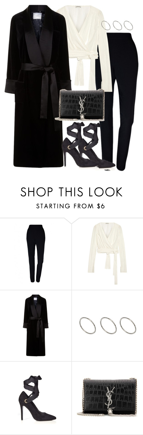"""""""Untitled #2845"""" by theeuropeancloset ❤ liked on Polyvore featuring Plakinger, Attico, Racil, ASOS, Alice + Olivia and Yves Saint Laurent"""