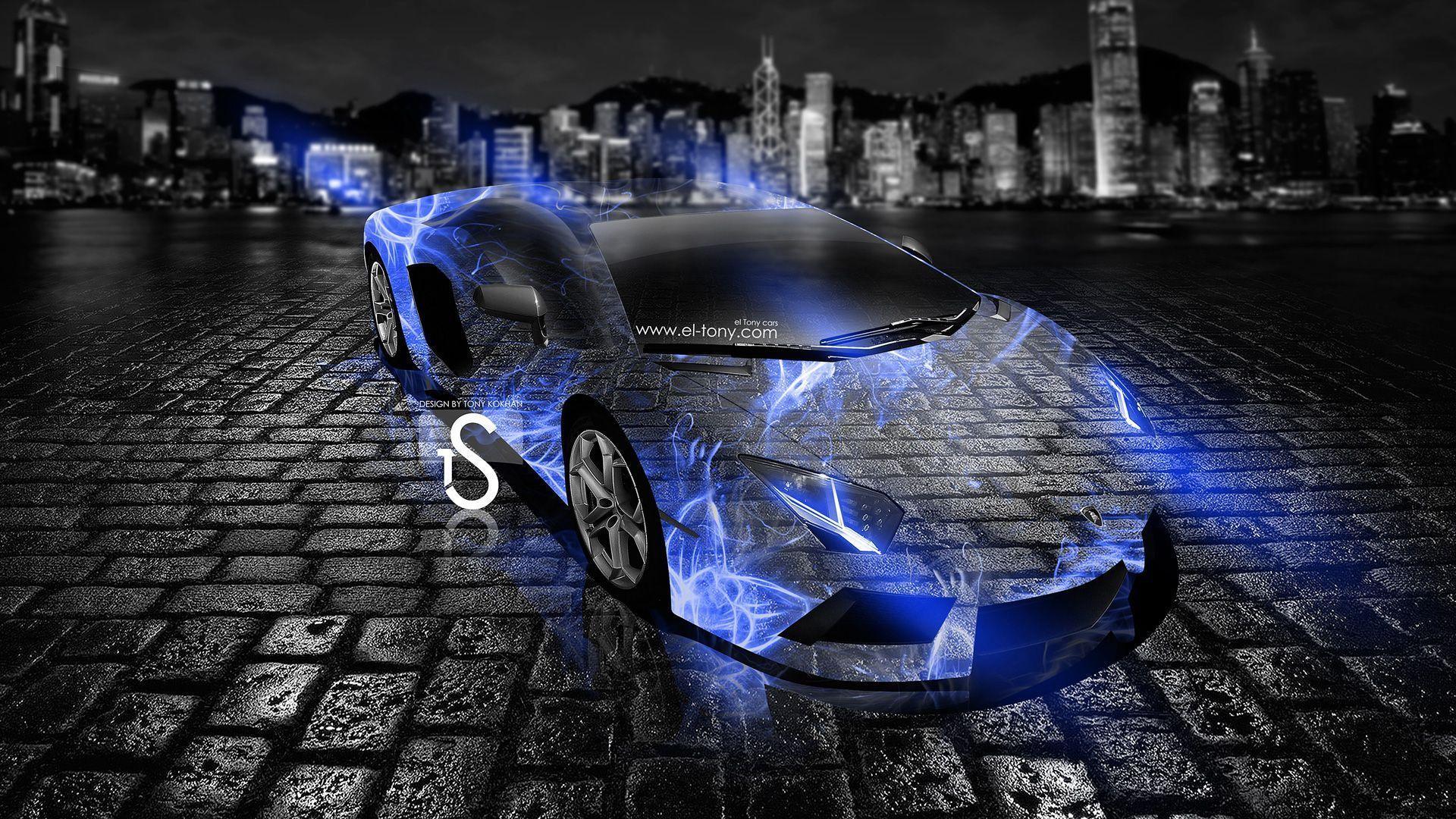 Wonderful Lamborghini Aventador Crystal Abstract Car El Tony