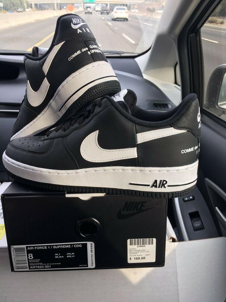 Nike 1 Supreme Size Air 8Men's Force Ebaysponsored Cdg Shoes KuFTl1Jc3