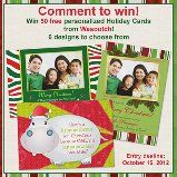 Linkies Contest Linkies: Win 50 Personalized Holiday #Christmas Cards - USA only