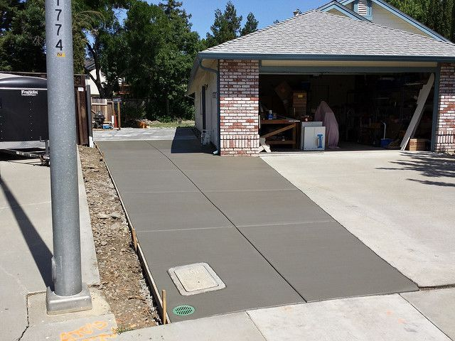 Driveway Extension Side Yard Concrete In Vacaville in