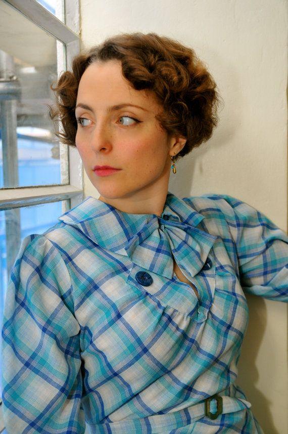 Jemima Mid1930s inspired plaid dress by VintageDressmaker on Etsy, $280.00