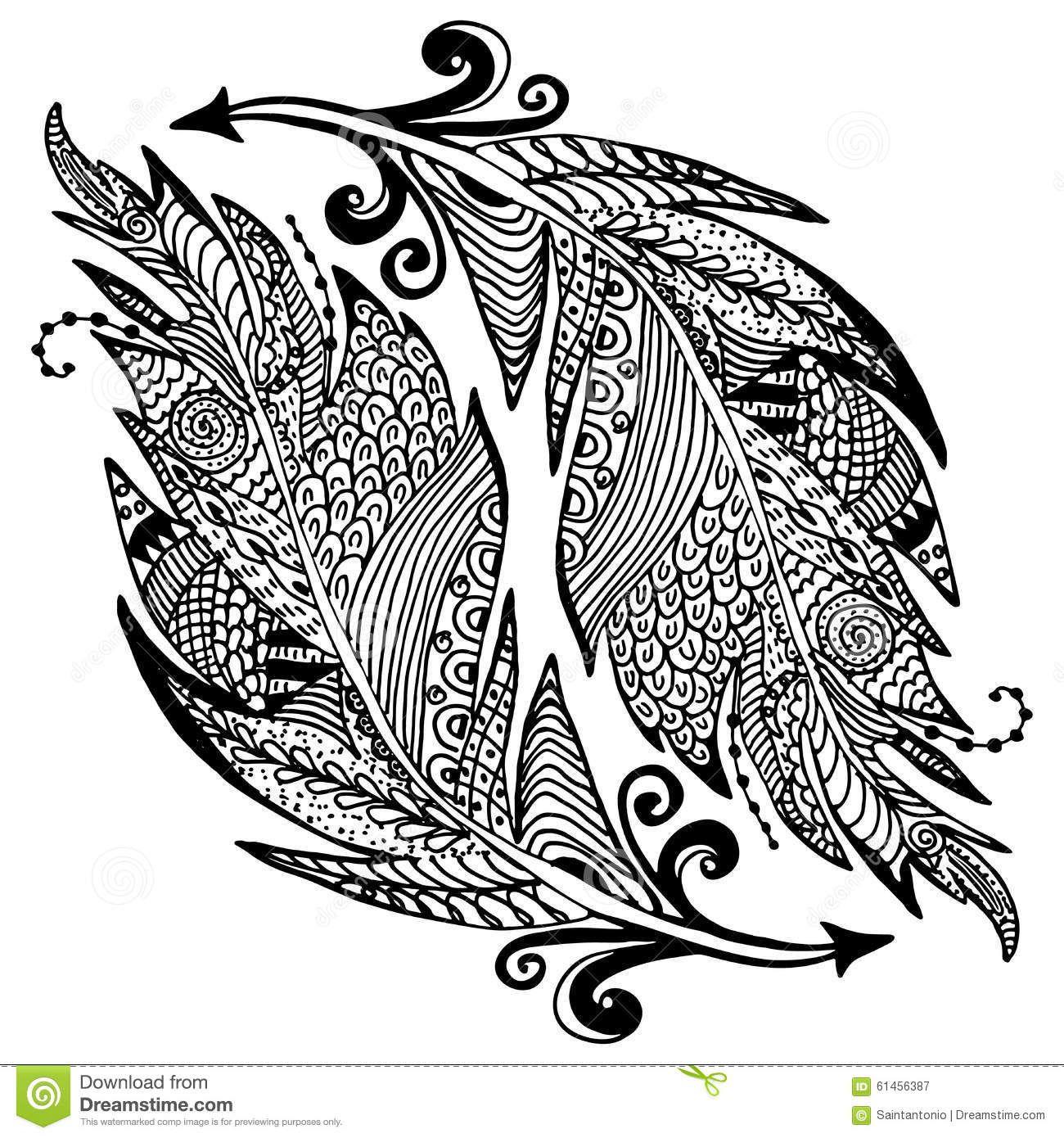 Pin Van Elly Plugge Op Patronen Zentangle Illustratie Schets