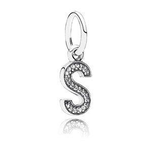 Silver Letter S Dangle