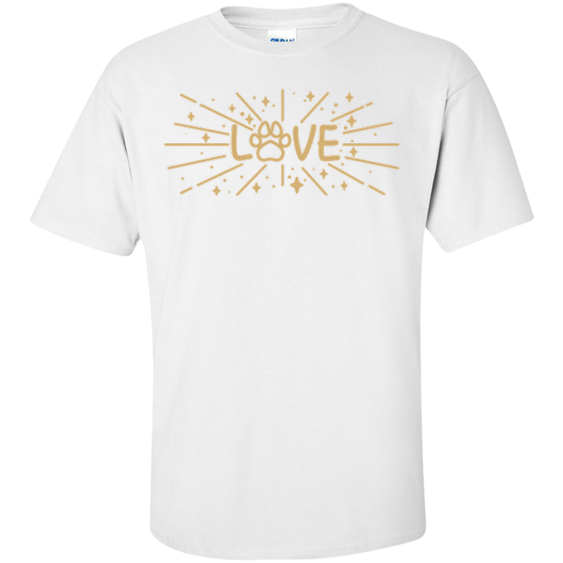 Stardust Love Paw Gold Unisex T-Shirt