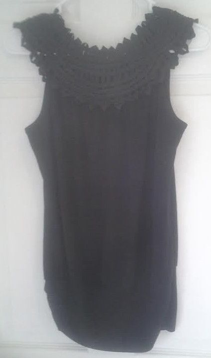 $0.99. Perceptions Black Blouse Top Round Neck Modern  #Perceptions #Blouse #EveningOccasion