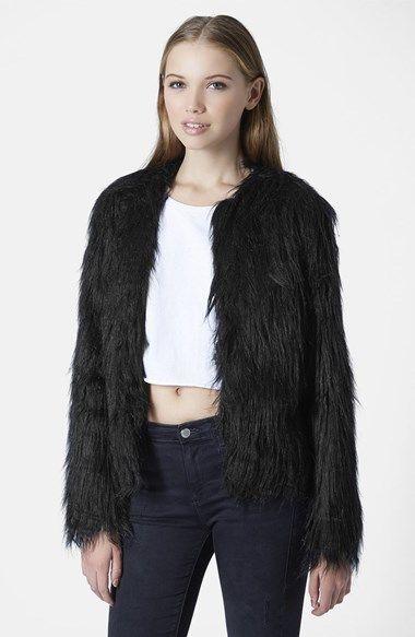 Gorilla Faux Fur Jacket | Fur jacket, Black fur jacket and Fur