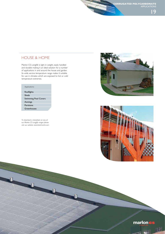 Marlon Cs Brochure Brett Martin Plastic Sheets Pdf Catalogs Technical Documentation Brochure Cladding Systems Pool Cover Plastic Sheets