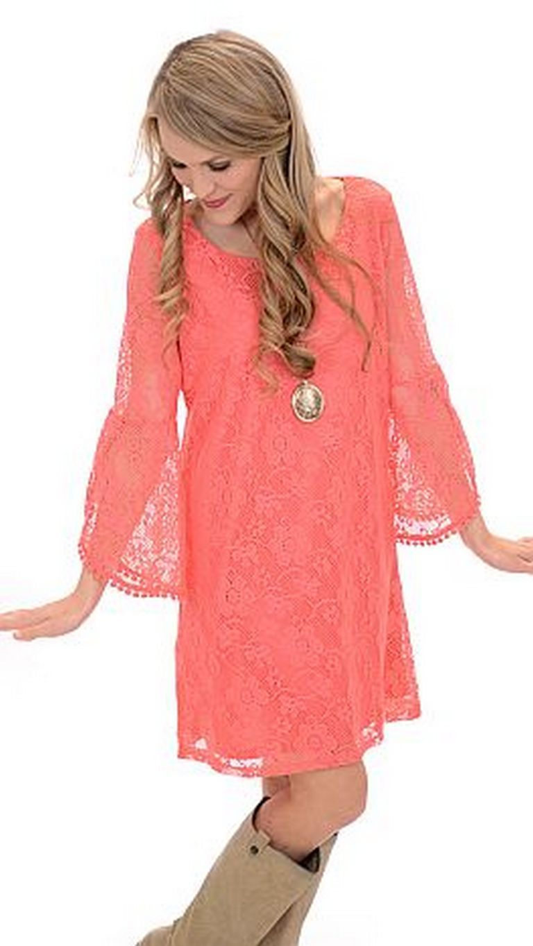nice coral bell sleeve dress coral bells sleeved dress and coral