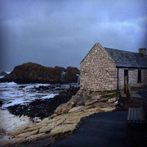 Ballintoy Harbour Tea Shop. The perfect place to relax and eat after a brisk walk.