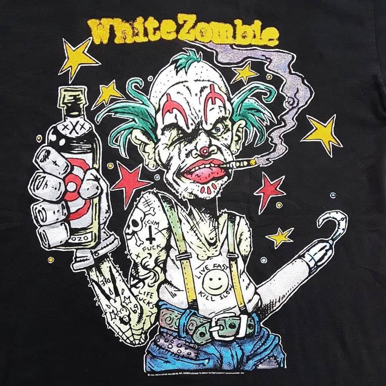 Vintage 1995 White Zombie Astro Creep Amusements Presents Etsy In 2021 White Zombie Rob Zombie Art White Zombie Band