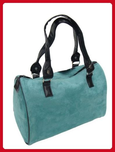 f075c70ce634 US Handmade Fashion SUEDE GREEN BLUE COLOR Pattern Doctor Bag Satchel Style Handbag  Purse