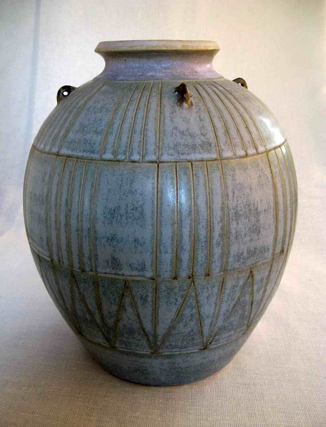 Maxwell Cowlin - blue patterned vase