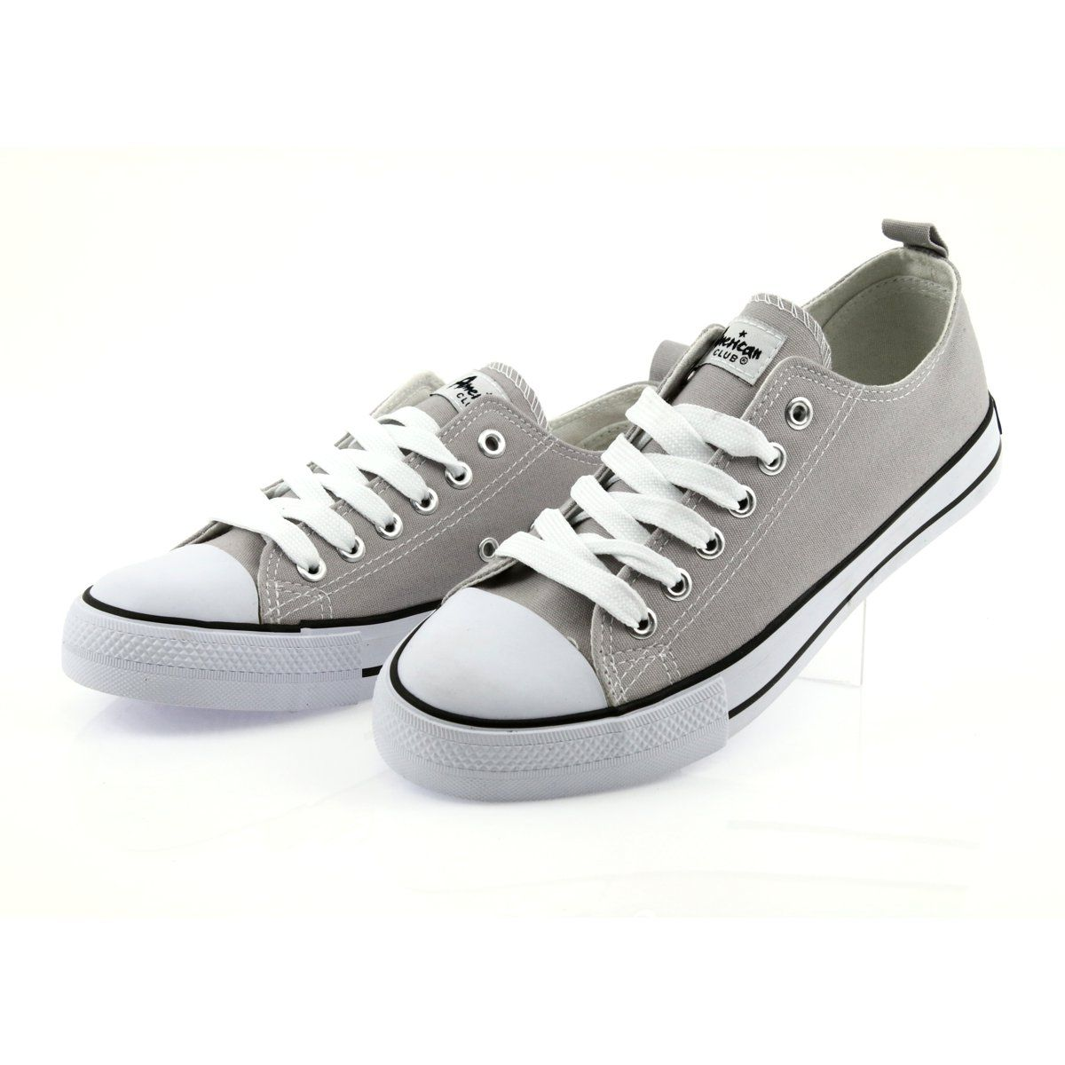Sneakers Tied With Gray American Club Women S Shoes Grey Sneakers Women Shoes Shoes