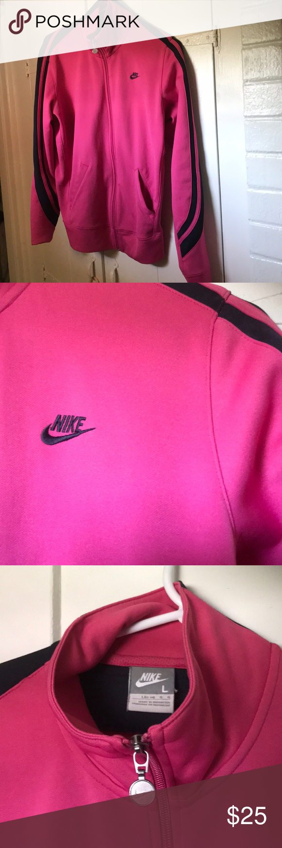a28a3d285427 Spotted while shopping on Poshmark  Nike pink sports jacket!  poshmark   fashion  shopping  style  Nike  Sweaters