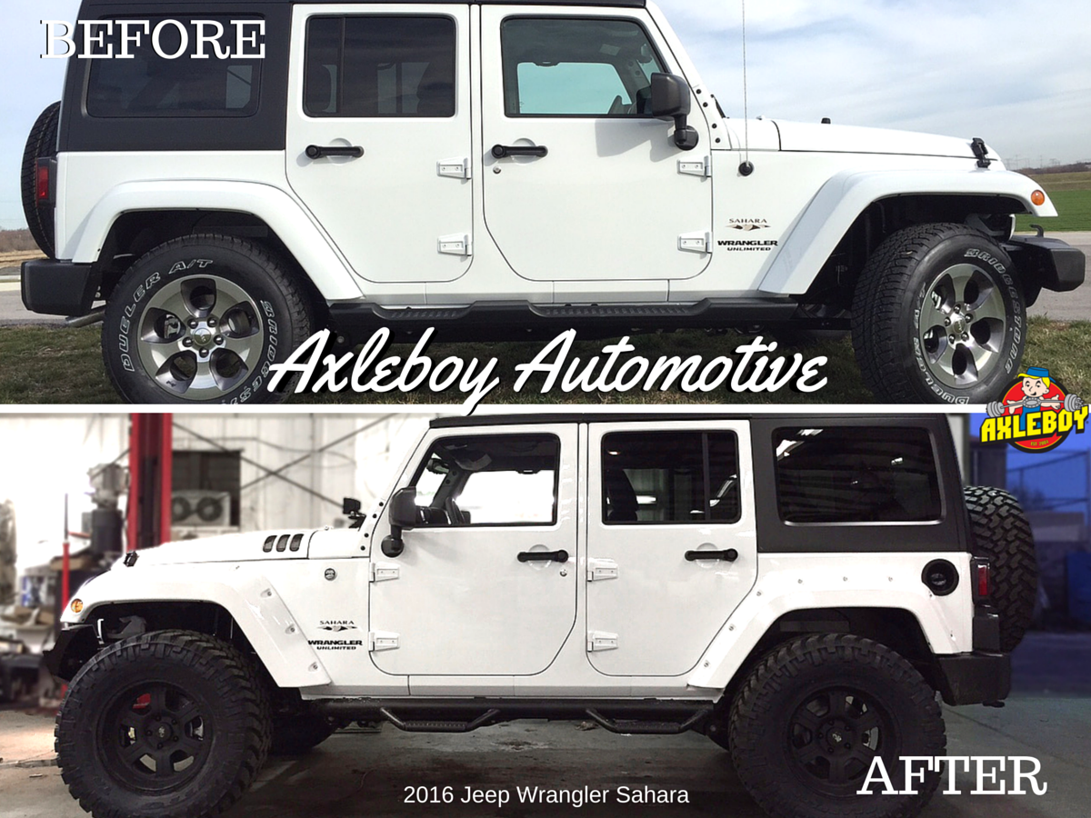 2016 jeep wrangler sahara built by the axleboy crew