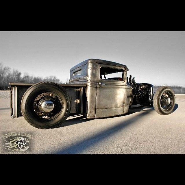 """""""""""Outshined"""" 1934 Chopped Bare Metal and Bagged Hot Rod Pickup #FORSALE Call/Text: 606-776-2886 Email: HotRodDirty@yahoo.com www.TraditionalHotRod.com…"""""""
