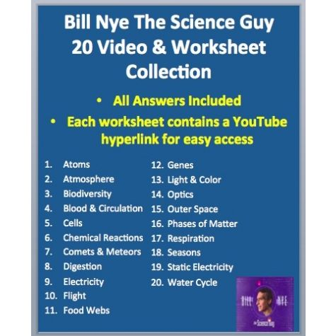 Bill Nye The Science Guy Water Cycle Worksheet Answer Key | science