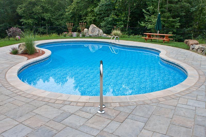 Concrete cantilever coping and pavers google search for In ground pool coping ideas