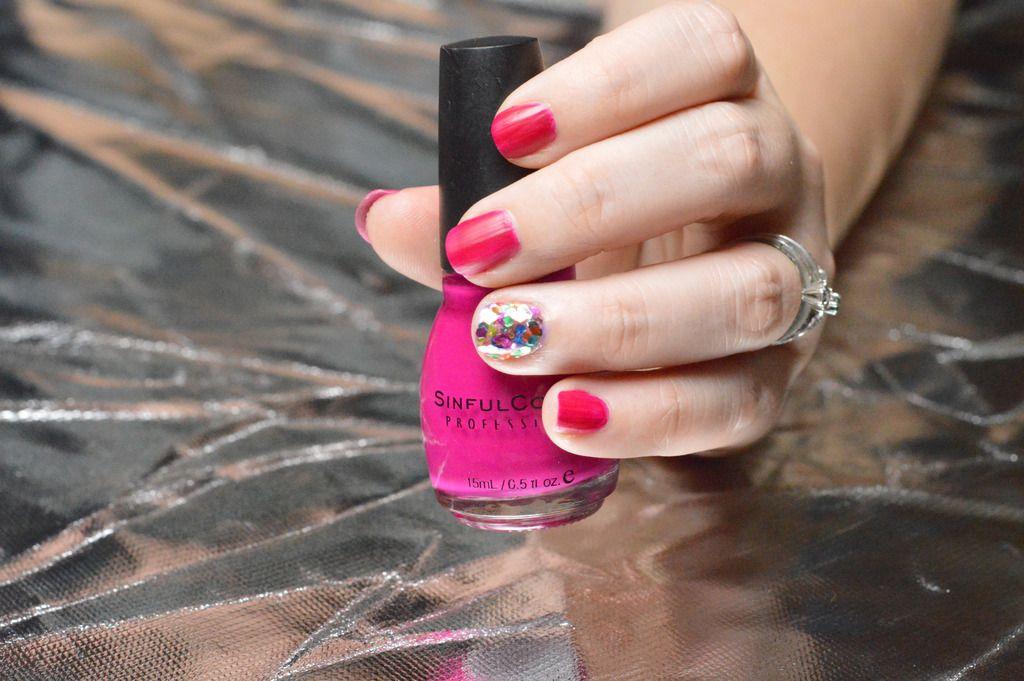Pink And Glitter Nails Design Tutorial Glitter Nail Designs