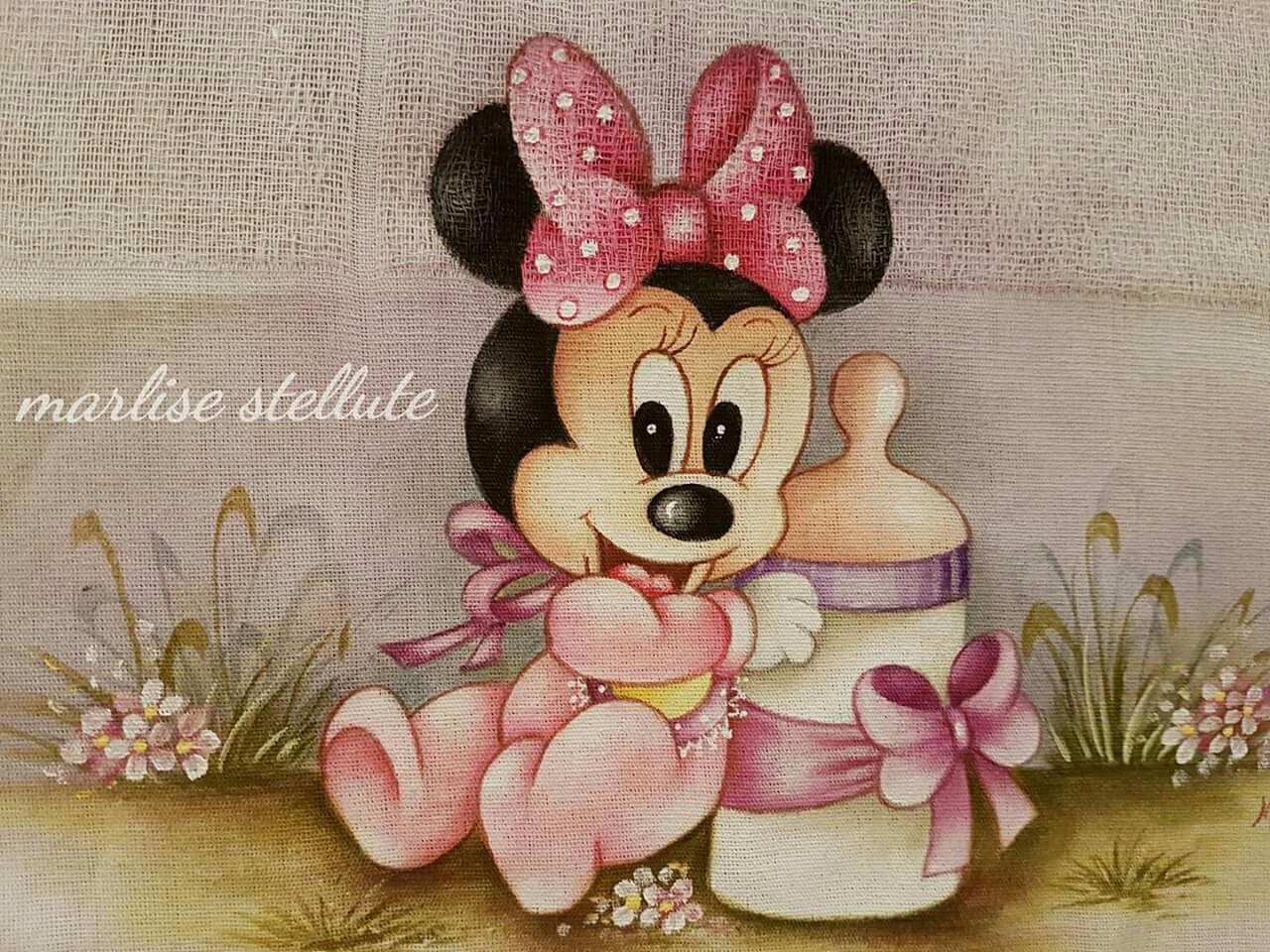 Desenhos Da Minnie Para Pintar Em Tecido: Pinturas Em Tecido Fraldas