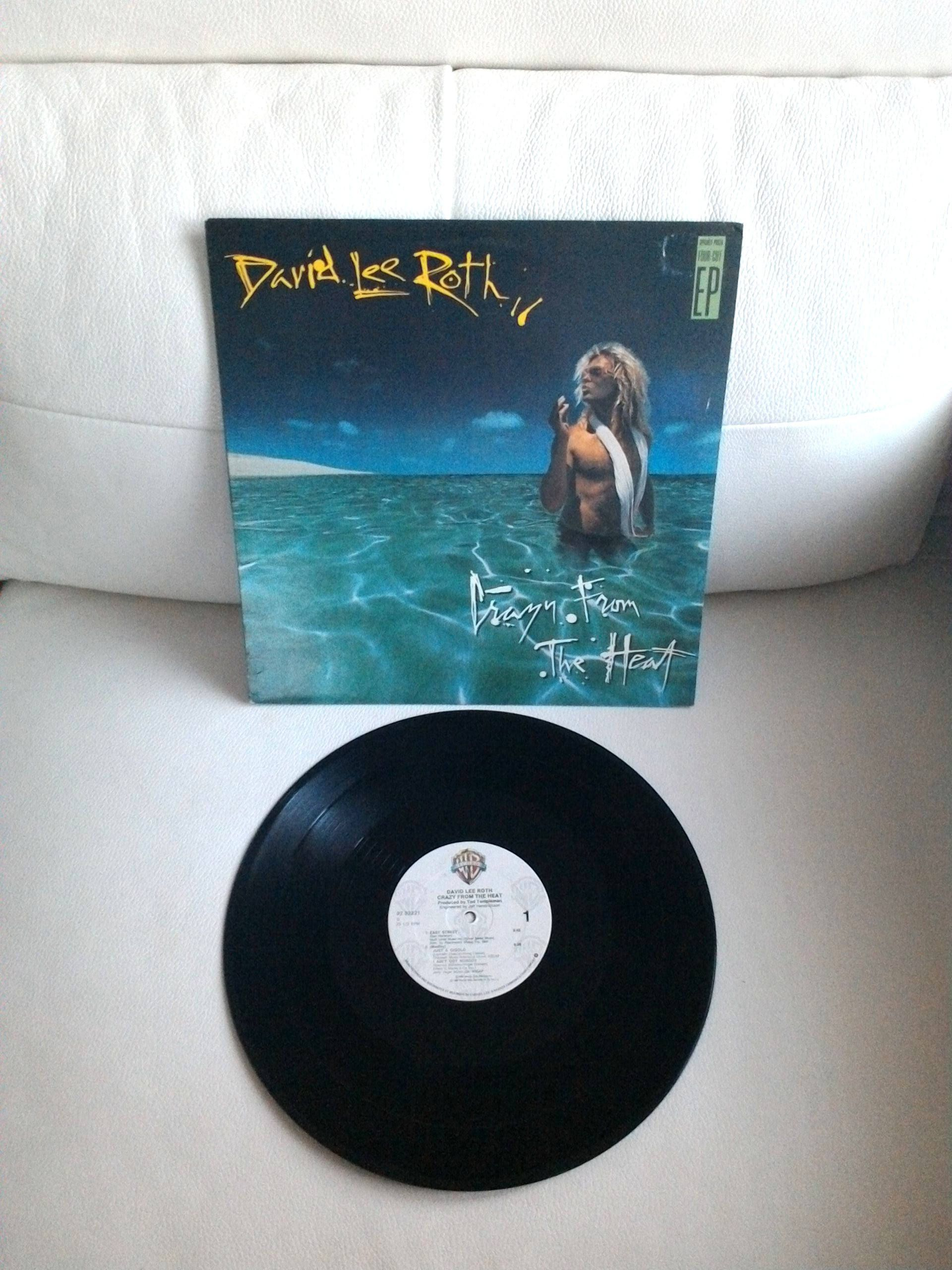 Vintage David Lee Roth Crazy From The Heat Vinyl 12 Single Etsy David Lee Roth Gigolo California Girls