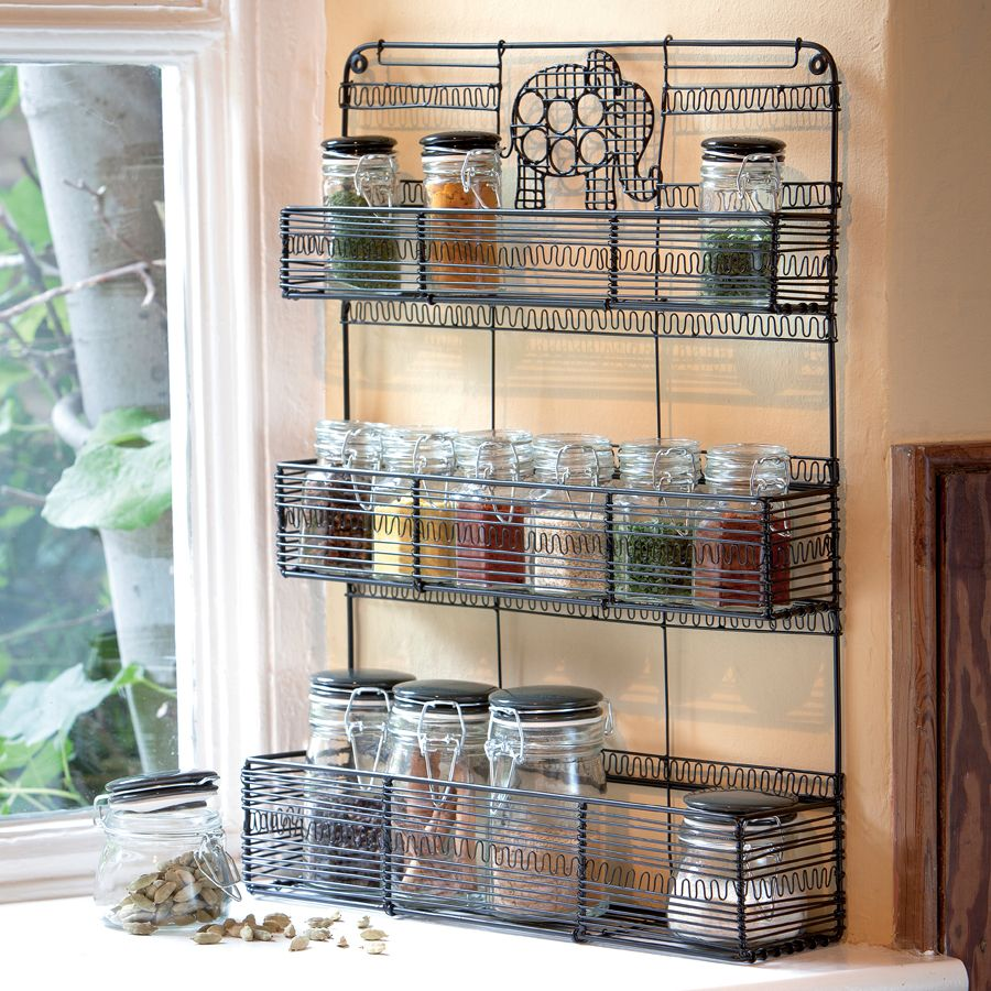 Kitchen. Free Standing Wire Spice Racks. Organizing Spices Use Creative  Spice Racks.