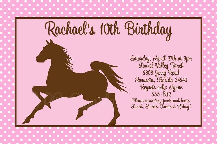 Nice Best Horse Birthday Invitations Free Templates Invitations - best of invitation template free