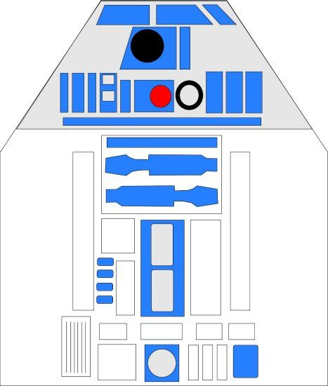 R2D2 Inspired Apron Pattern - Sew Your Own Droid | Aprons ...