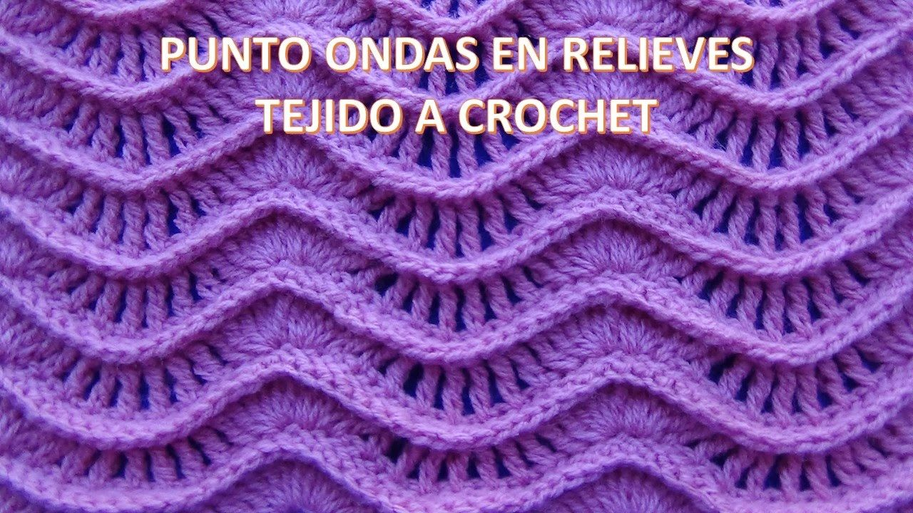 Punto A Crochet N 25 Ondas En Relieves Para Suteres Y Cobijas De Chevron Pattern Diagram Mantas Pinterest In This Border Tutorial Series I Will Be Showing How To Fan Stitch Was Fun For Me Share With You
