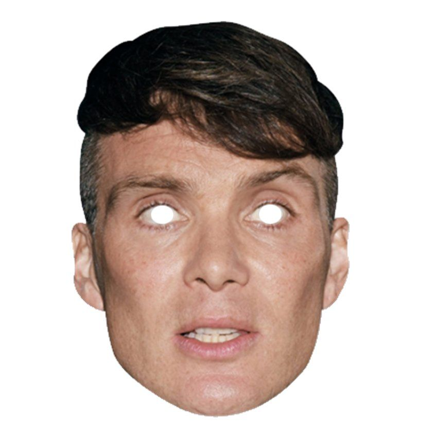 Card Face and Fancy Dress Mask Cillian Murphy Celebrity Mask