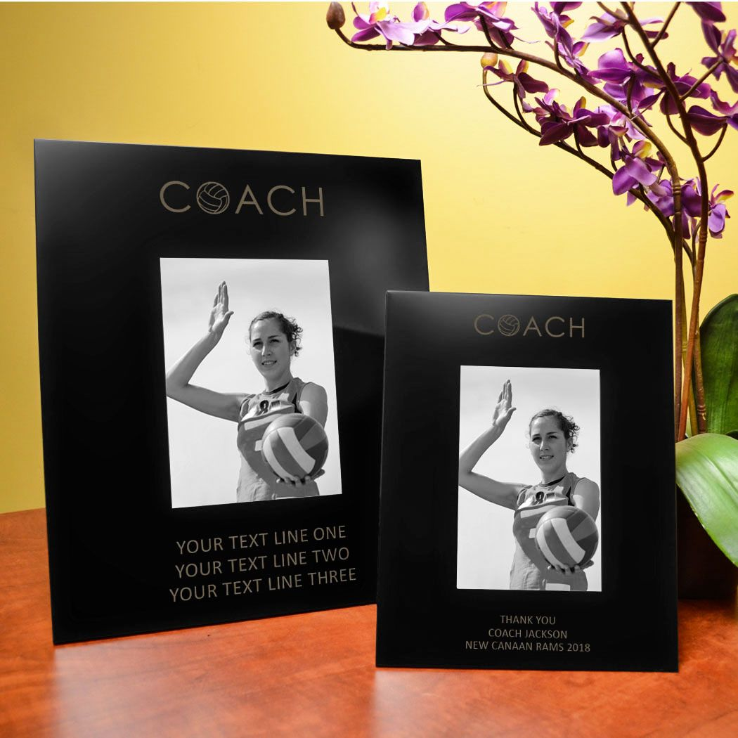 Personalized Volleyball Coach Picture Frame Coach 5x7 Metal Photo Frame Volleyball Coach Gif Coach Picture Frame Engraved Picture Frames Metal Photo Frames