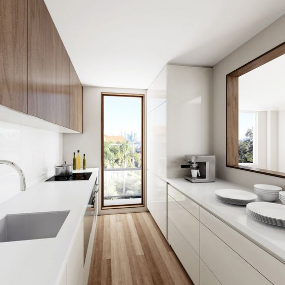 am nager une cuisine en longueur 20 exemples pour vous inspirer cuisine pinterest. Black Bedroom Furniture Sets. Home Design Ideas
