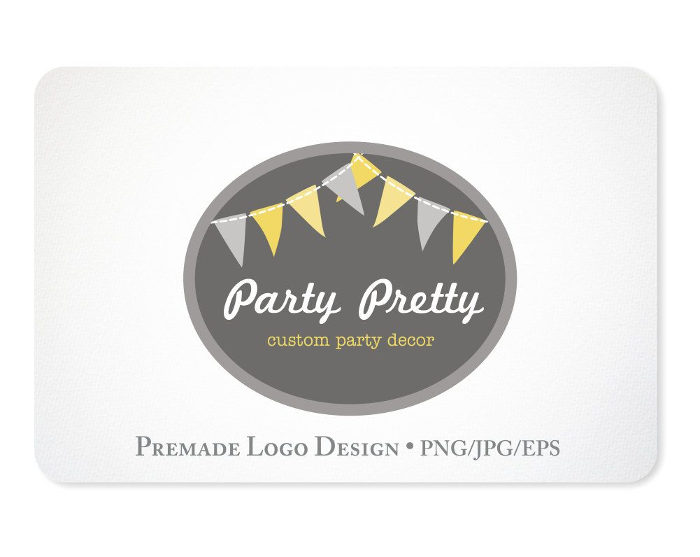 Premade Logo Design for Small Businesses by KellyJSorenson on Etsy
