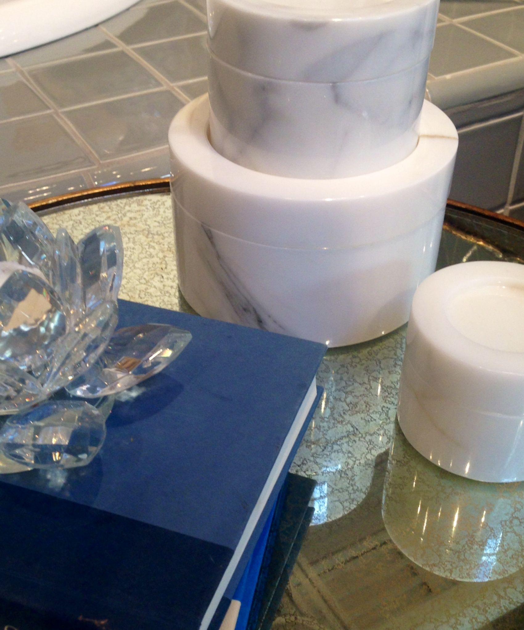 Here's a sneak peek of Dawn Jacobs' (Artichoke Interiors) Powder Room Vignette in Ann Sacks, suite 91