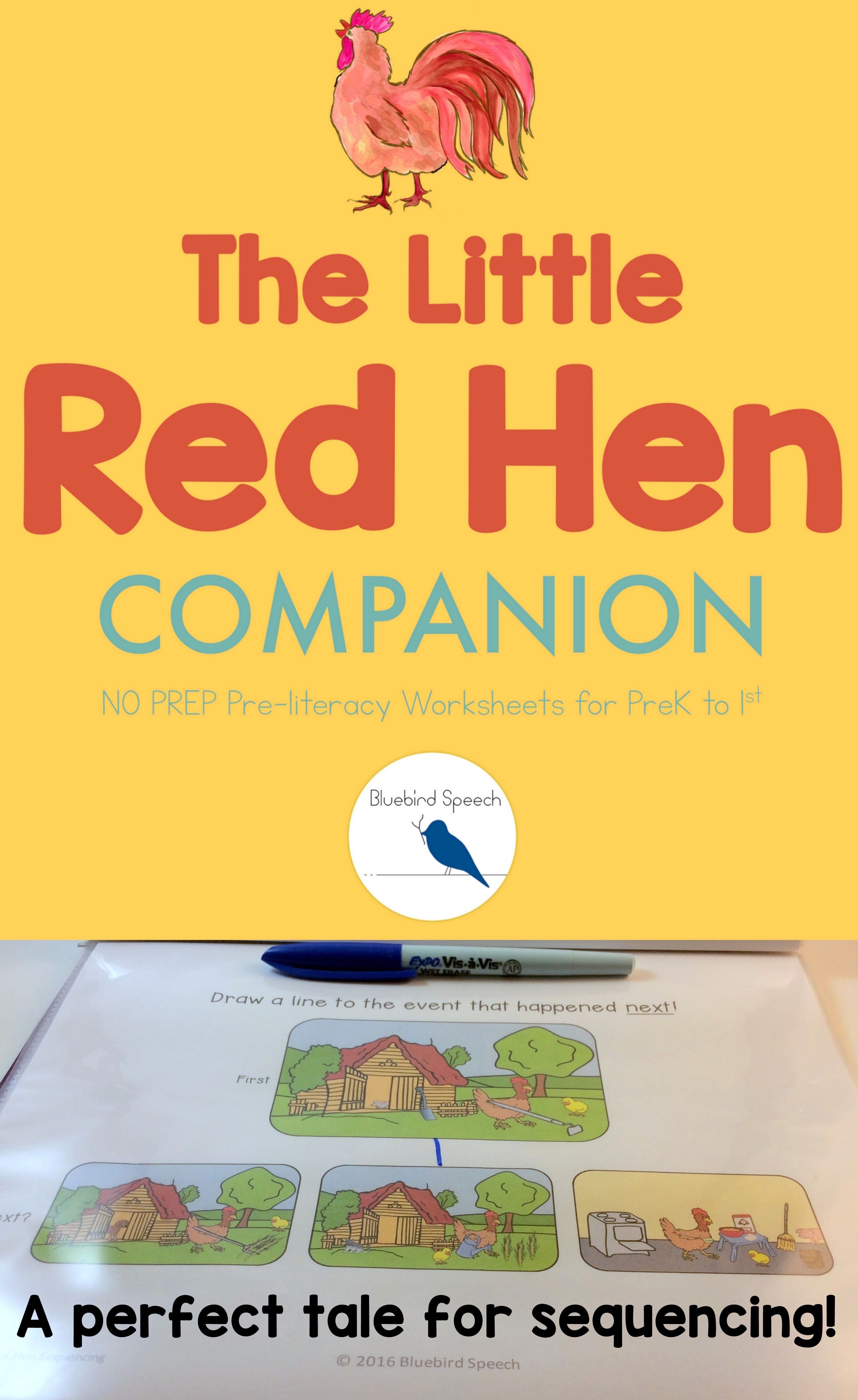 Distance Learning The Little Red Hen Fall Book Companion