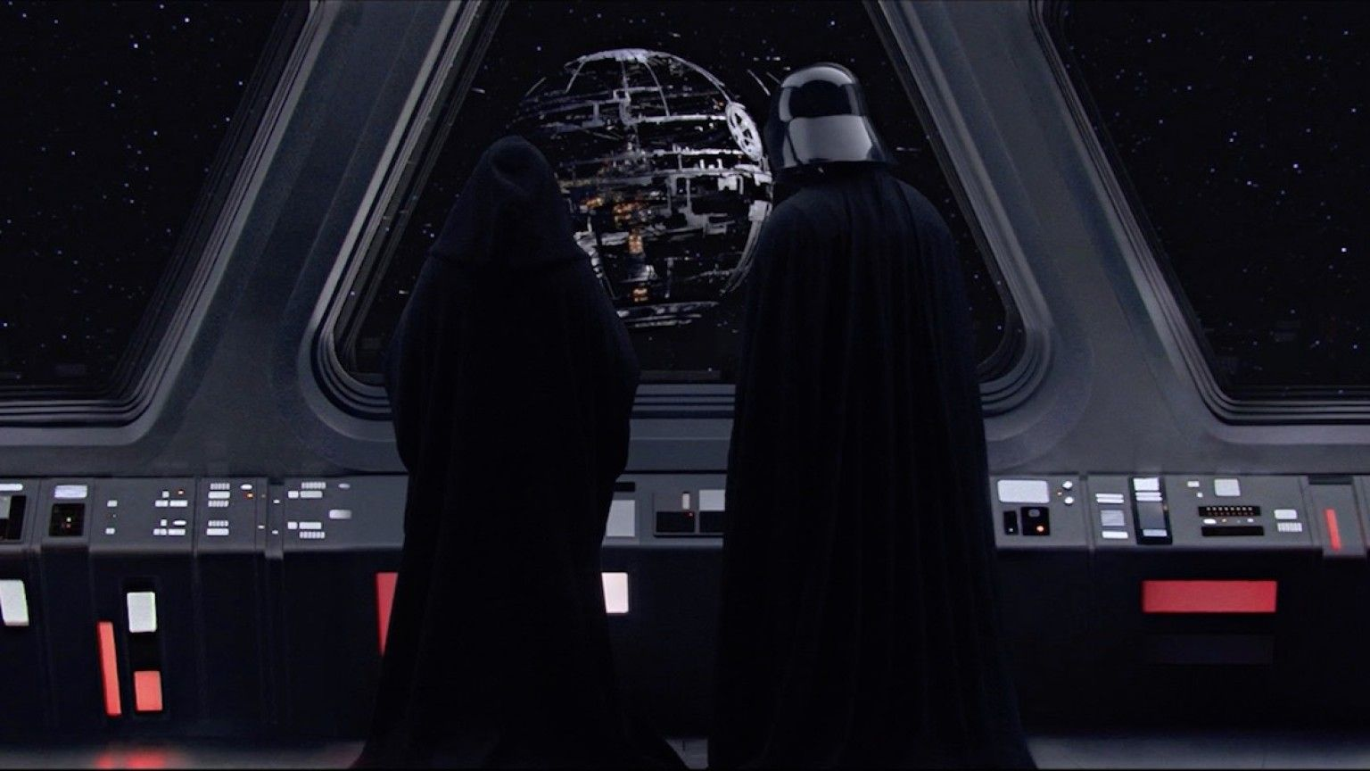 Resultado de imagem para star wars episode 3 darth vader and palpatine death star