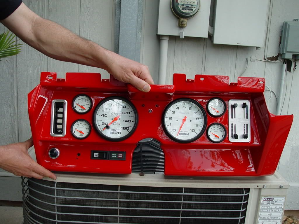 custom dash for 1969 camaro re gauge retrofit in a 69 using stock panel  [ 1024 x 768 Pixel ]