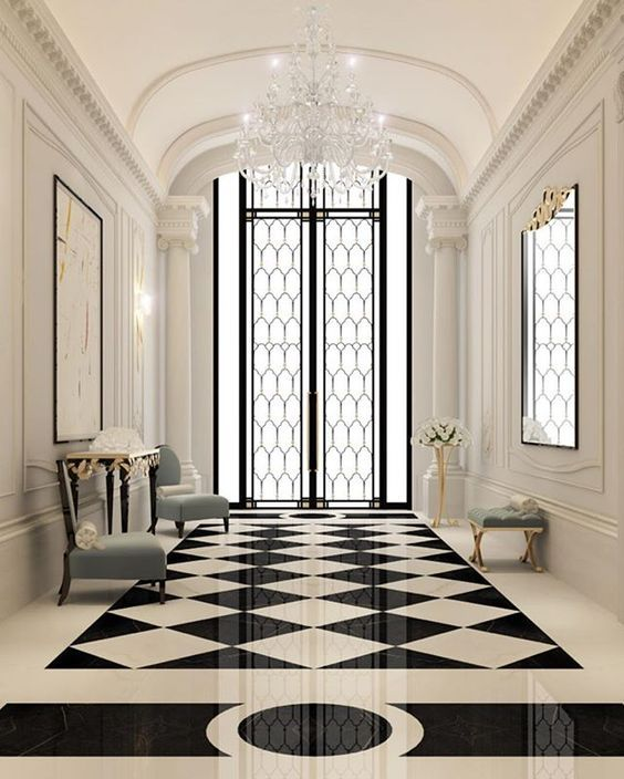 amazing hallway with cristal chandelier see my post about at www rh pinterest com