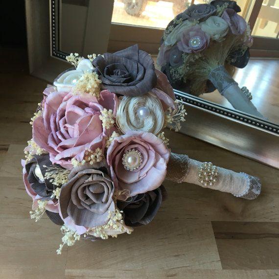 Rose Wedding Bouquet Bridal Bouquet Sola Wood Bouquet Alternative