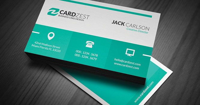 A modern metro style design featuring perfect color scheme of green visiting card templates a modern metro style design featuring perfect color scheme of green and white with all important reheart Gallery