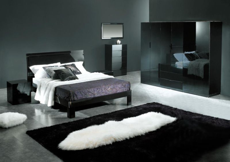 Bedroom Decorating Ideas With Black Grey And Silver Room Purple - Black and silver bedroom designs