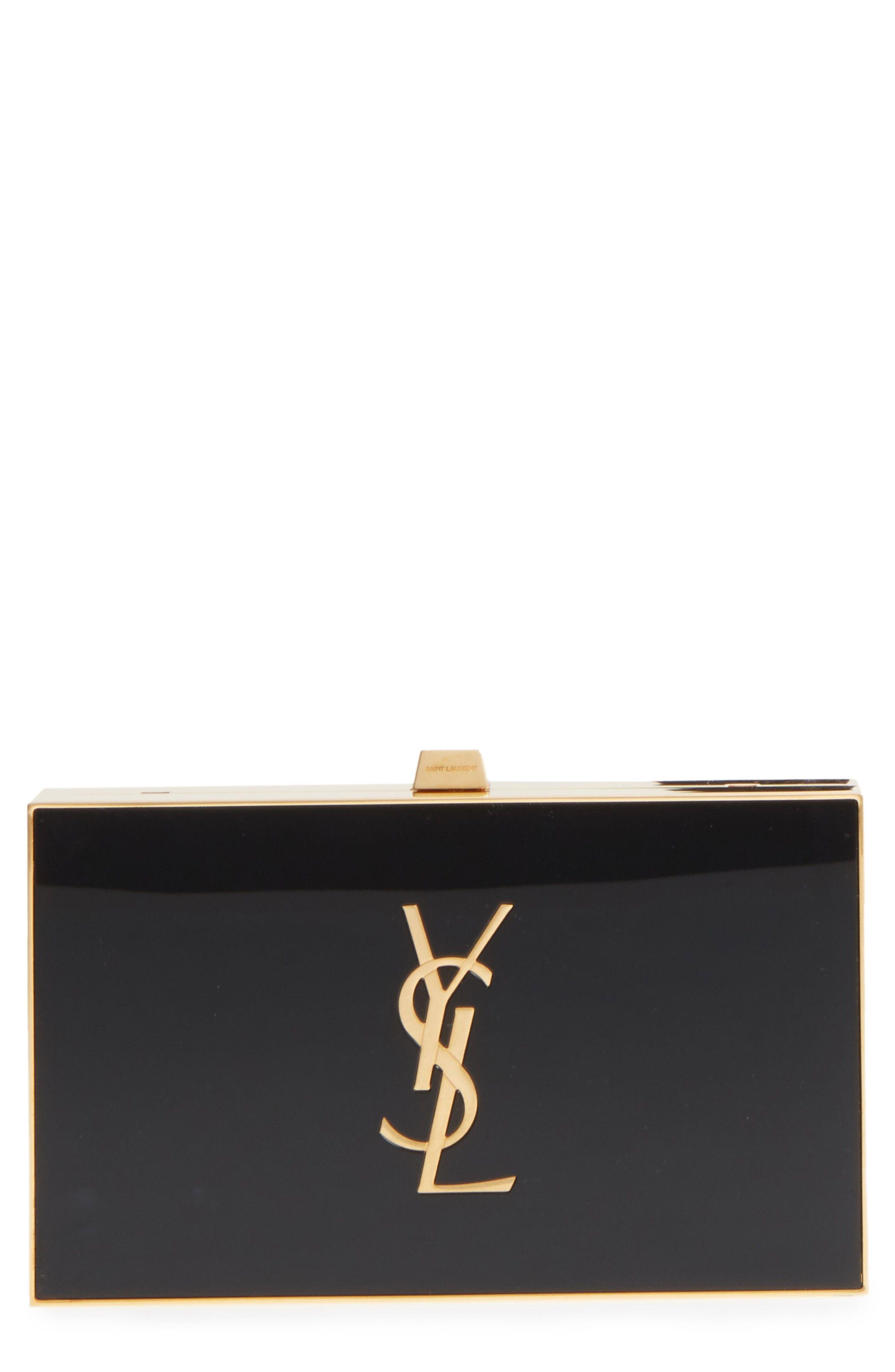 3829821418 Monogram Tuxedo Box Clutch #ysl #yvessaintlaurent #saintlaurent ...