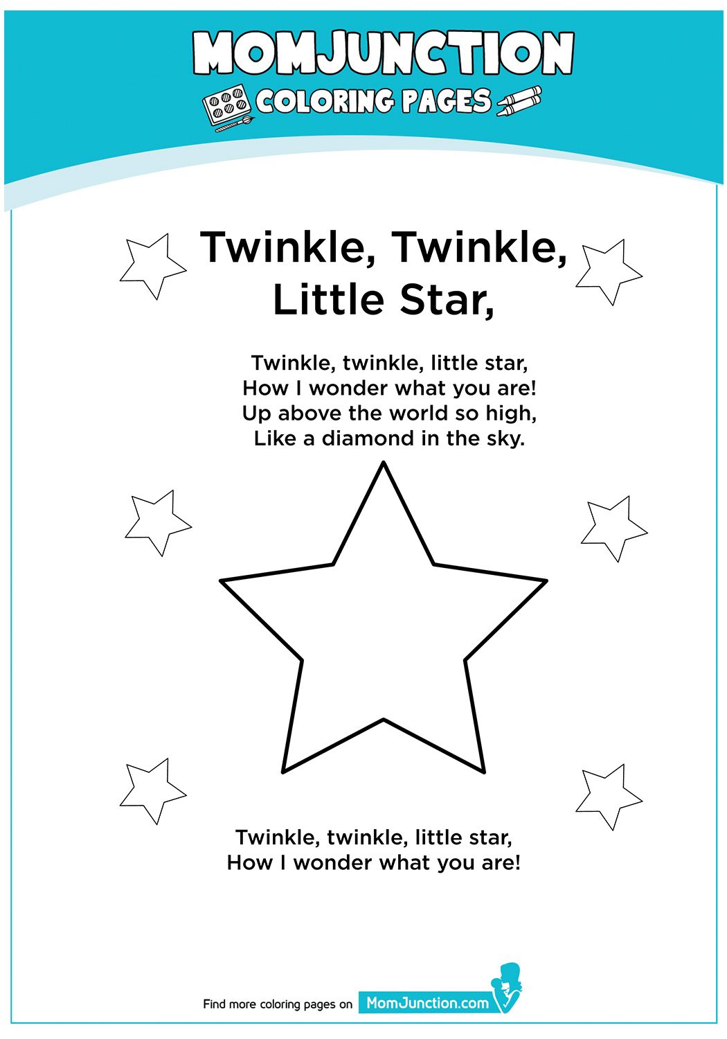 Twinkle Twinkle Little Star Star Coloring Pages