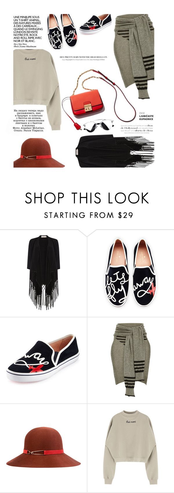 """Untitled #1398"" by zayngirl1dlove ❤ liked on Polyvore featuring Soaked in Luxury, Kate Spade, Sonia Rykiel, Eugenia Kim, women's clothing, women, female, woman, misses and juniors"
