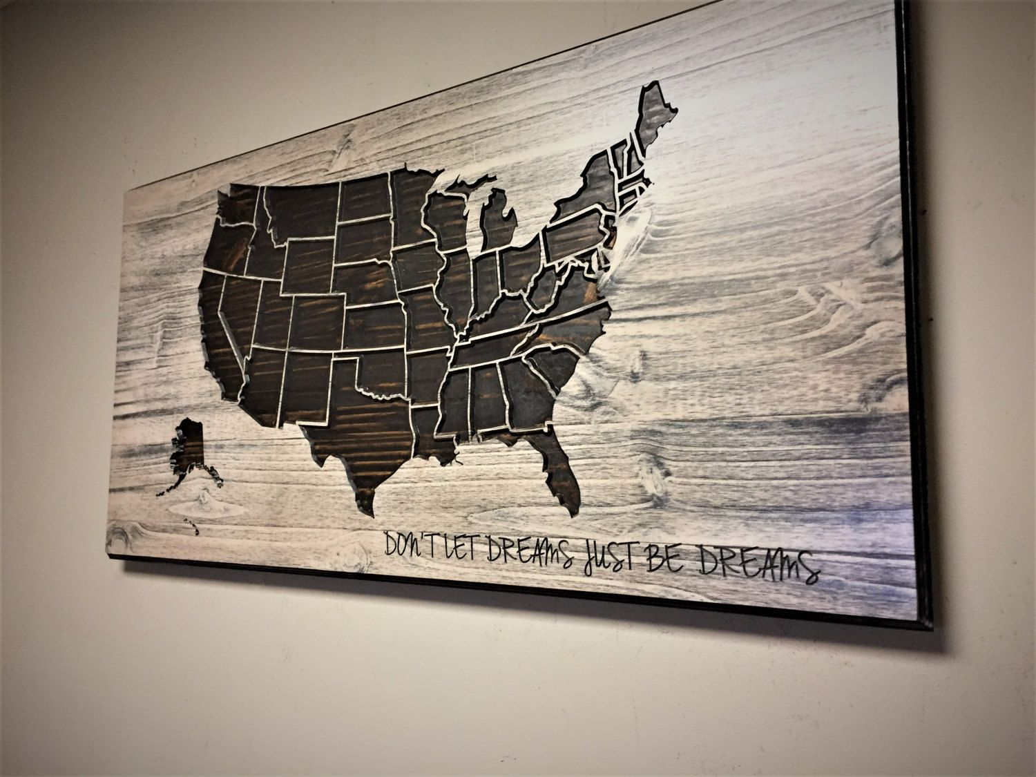 american of wall united states world wood carved new map decor art