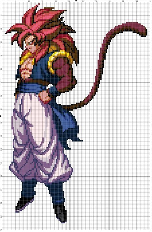 8 Bit Cross Stitch Anime Pixel Art Pixel Art Grid Pixel Dragon
