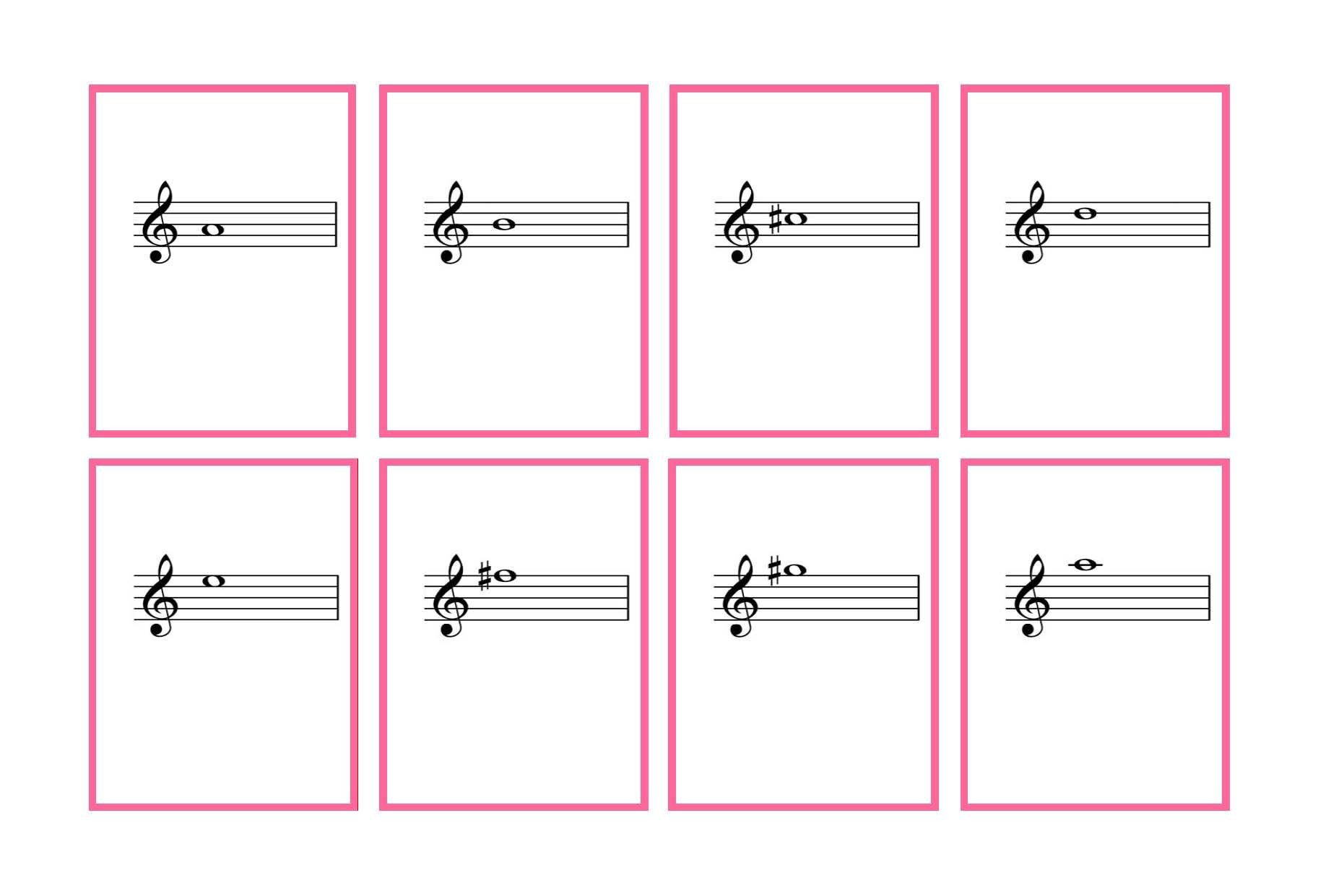 Printable Music Note Flashcards
