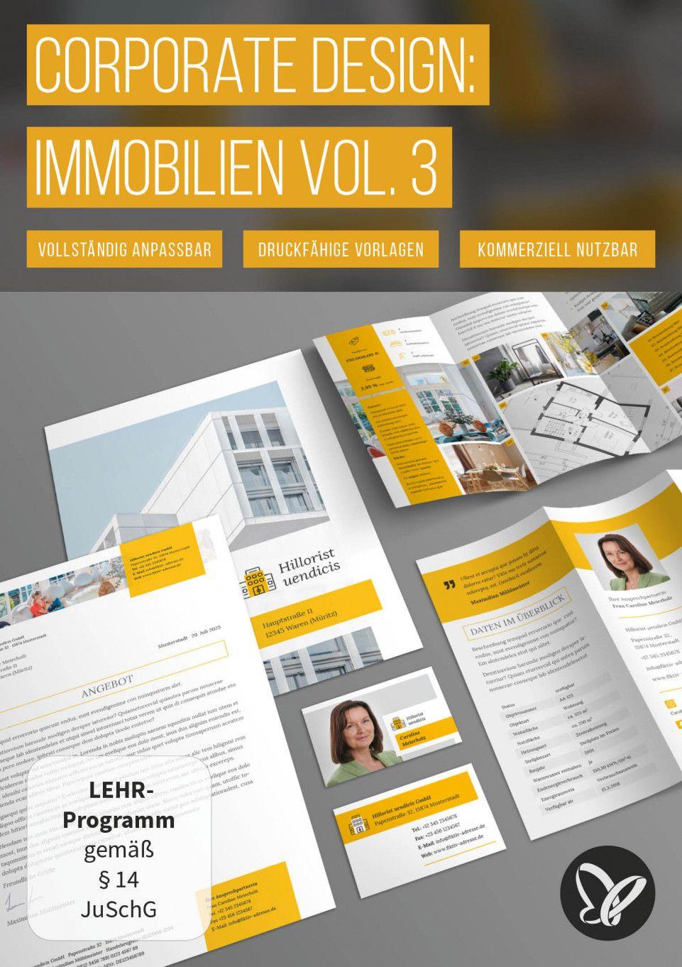 Immobilien Marketing Hochwertige Corporate Design Vorlagen Expose Immobilien Corporate Design Corporate